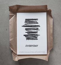 Albin Homqvist — Everyday #typography #poster #film