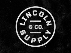 FFFFOUND! | Dribbble - Lincoln Supply & Company by Jeremy Beasley #design #type #logo