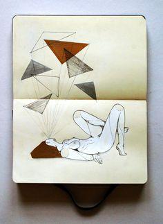 Más tamaños | Moleskine | Refúgio | Gabriel Kieling | Flickr: ¡Intercambio de fotos! #illustration #moleskine #girl