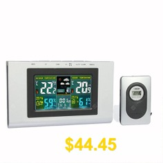 XY #- #TQ3 #Weather #Forecast #Clock #Creative #Home #Wireless #Temperature #and #Humidity #Meter #LCD #Electronic #Screen #- #SILVER