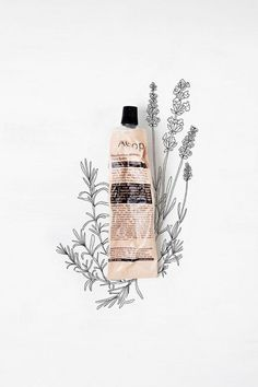 // aesop and illustrations #branding #drawing #product #mixed media #illustrations #flowers #advert #aesop #beauty product