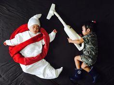 Ayumi Omori Captures Her Sleeping Twins In Imaginative Scenes