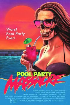 movie poster pool party massacre vhs cover