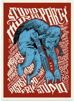 Toby Morris #bandposter #illustration #typography #psychedelic