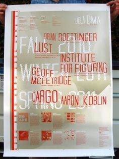 UCLA DMA MFA Program | Use All Five, Inc. #design #graphic #poster
