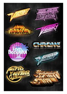 Rad Typography 1.0 on Behance #type #style #80s