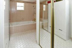 Ideas for Toning Down Graphic Bathroom Tile? — Good Questions | Apartment Therapy #bathroom