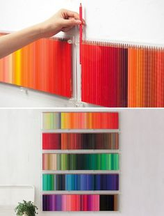 (3) Tumblr #color #decor #crayons #wall #art #pencil