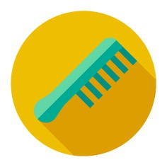 See more icon inspiration related to beauty salon, Tools and utensils, grooming, accesory, beauty, comb and hair on Flaticon.