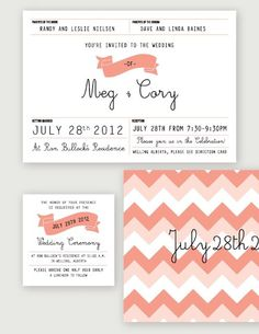 A Sweet Spirit #flag #peach #wedding #invitation