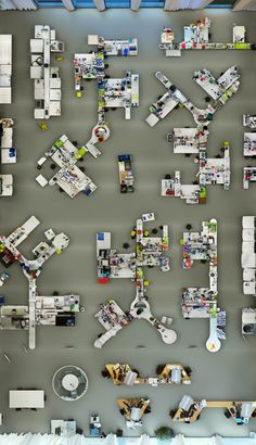 dezeen: Lab photographed from a bird's-eye view by Menno Aden #creative #office #space