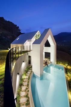 Pool Villa in South Korea by Rieuldorang Atelier 13