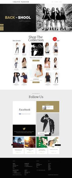 Blvck Fashion Store PSD by MunFactory #ux #design #ui #ecommerce #fashion #web