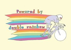 Bikerumor #bikes #illustration #rainbow #double