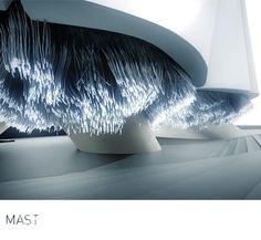 suckerPUNCH #installation #lights #space #architecture #object #mast