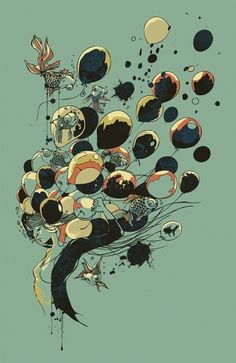Floating Memories by chalermphol harnchakkham | Society6 #illustration