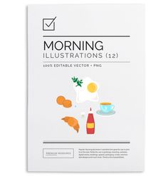 Beautifully illustrated breakfast element clip art/vectors that are great for use on the web & in print.
