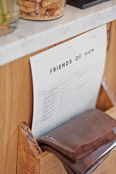 Friends of Ham on Behance #stamp #menu #layout #typography