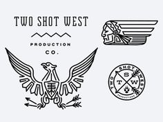 TwoShotWest by Keith Davis Young #logo #monoline #typography