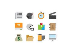 More Symbolicons Flat #flat #iconography #icon #sign #icons #picto #symbol