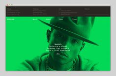 website, large image, green, overlay