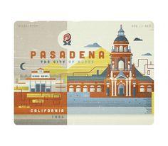 Pasadena - The Everywhere Project #illustration #linn #ricky #pasadena #california