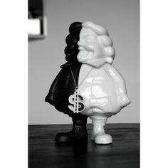 Mc Supersized Black & White by Ron English & K.olin Tribu #art