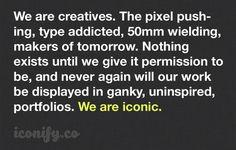 iconify brand manifesto #iconic