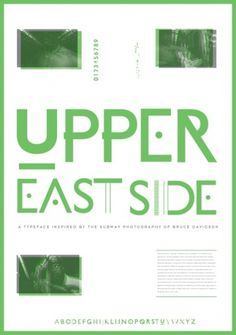 Raw Type / Open Brief – Winner #upper #eastside #typography