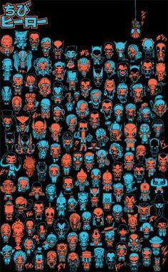 ilustración / dibujo, diseño web y camisetas | OFGMS | olivier fritsch gomez #america #iron #captain #wolverine #batman #spider #marvel #man #superman