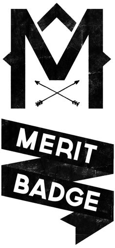 Merit Badge #arrows #type #logo