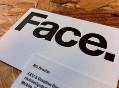 Face.'s Photos - Wall Photos #business #letterpress #stationery #face #cards
