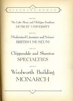 Bernhard Roman type specimen