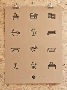 Tim Boelaars — Furniture #icon #design #icons #texture #illustration #posters #poster #paper