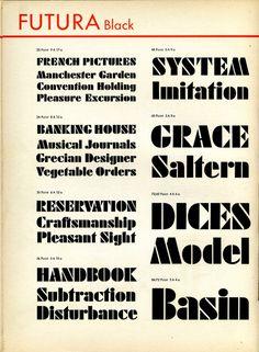 Futura Black type specimen #type #specimen #typography