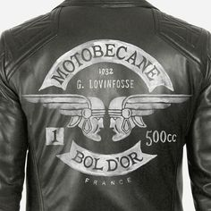 Motobecane by BMD Design #jacket #design #illustration #leather #motorcycle #typography
