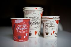 Prospero bakery on Behance #coffee #cup #typography