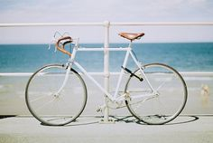 All sizes | Seaside Cycling | Flickr - Photo Sharing! #white #beach #bicycle