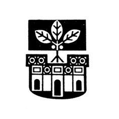 Logo for Town Council of Kirjat-Gad designed by Shemuel Katz, Israel 1961
