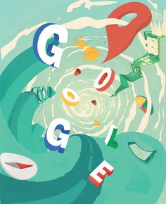 .NET MAGAZINE - GOOGLE MAPS by James Oconnell #oconnell #james #illustration #vortex #google #maps