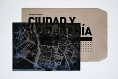 Ciudad y Ciudadanía | Sublima Comunicación #citizens #sublima #city #architecture #envelope #kraft #xray #paper #brochure