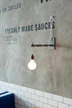 London's Best Chippy, Style Included : Remodelista #lamp #light