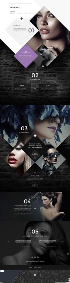 Rombic Website Template