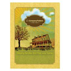Sunny Home Real Estate Folder Template