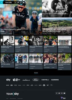 Team Sky - Mindsparkle Mag - Team Sky is a british bicycle racing team from Manchester whose website is made by Soon_, a digital branding an
