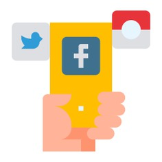See more icon inspiration related to facebook, instagram, share, phone, social media, communication, exchange, mobile phone, smartphone, marketing, mobile, ui, electronics, communications, exchanging, files and technology on Flaticon.