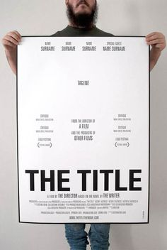 How-to-make-a-movie-poster #white #black #clean #minimal #poster #type