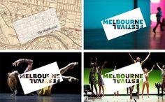 Festival Melbourne #logotype #print #identity #grid