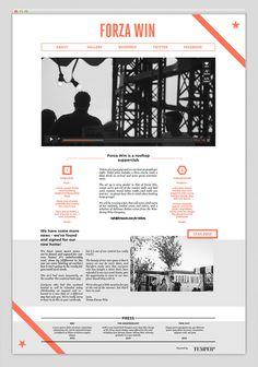 Forza Win #design #website #web #interface #tumblr