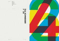 NotOnSunday. #numbers #overprint #typography